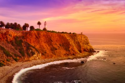 A beautiful sunset view at Point Vicente in Palos Verdes.