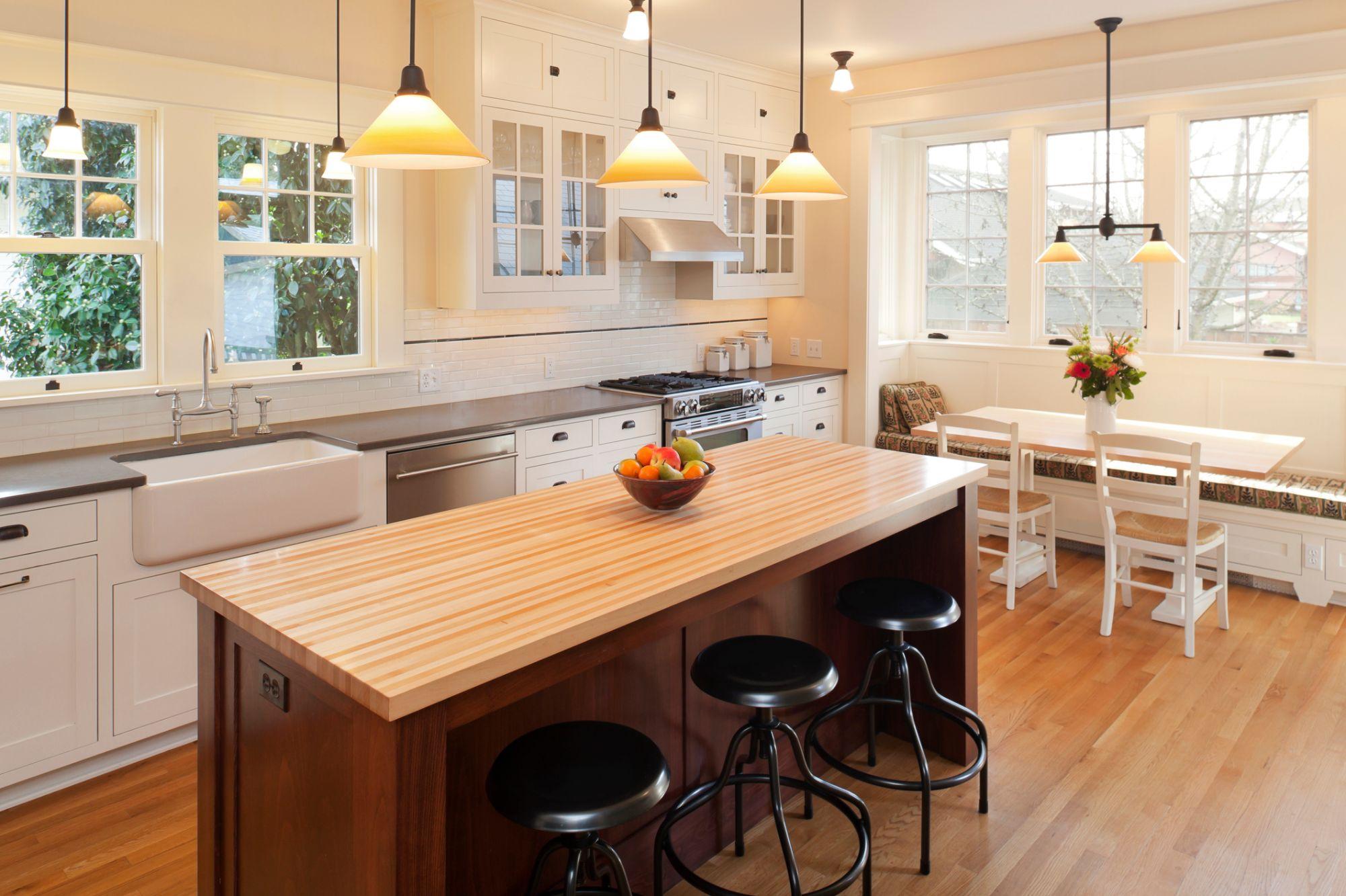 Modern kitchen with good lighting