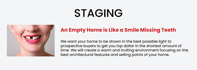 an empty home is like a smile missing teeth